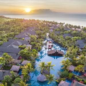 The St. Regis Bali Resort à Sud de Bali: Aerial Lagoon Pool and Beach