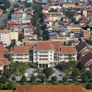 Raffles Hotel Le Royal in Phnom Penh: Aerial View