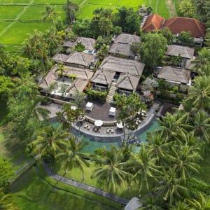 The Ubud Village Resort & Spa:  Aerial view