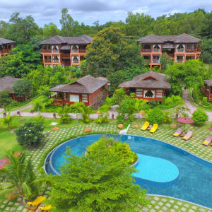 Popa Garden Resort in Bagan: Aerial View