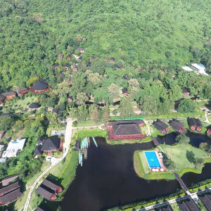 Pristine Lotus Resort in Inle Lake: Aerial view
