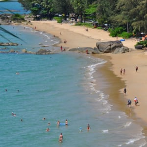 Khao Lak Paradise Resort: Aerial view of the beach