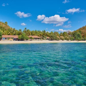 Cocotinos in Lombok: Beach from the sea
