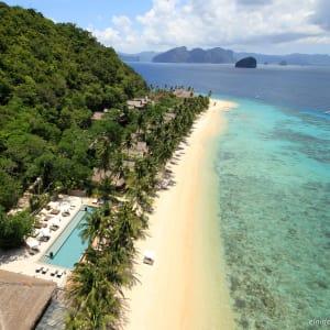 El Nido Resorts Pangulasian Island in Palawan: Resort Aerial View