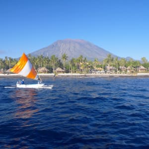 Siddhartha Ocean Front Resort & Spa in Ostbali: View from the sea
