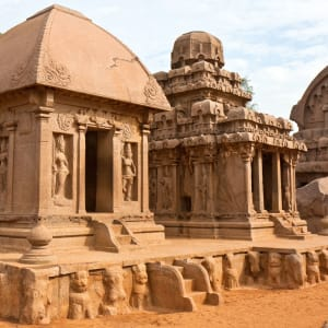 Höhepunkte Südindiens ab Chennai: Mahabalipuram: Draupadi- and Arjuna-Ratha