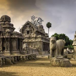 Höhepunkte Südindiens ab Chennai: Mahabalipuram: UNESCO World Heritage