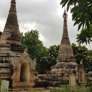 Ursprüngliches Dorfleben am Dohtawaddy Fluss in Mandalay: Makhaya