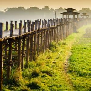 Au pays des temples et des pagodes de Yangon: Mandalay Amarapura U-Bein Bridge