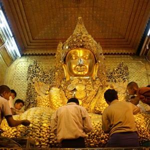 Au pays des temples et des pagodes de Yangon: Mandalay Mahamuni Pagoda