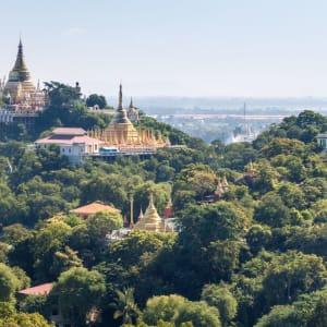 La fascination du Myanmar – un pays en mutation de Yangon: Mandalay Sagaing Hill