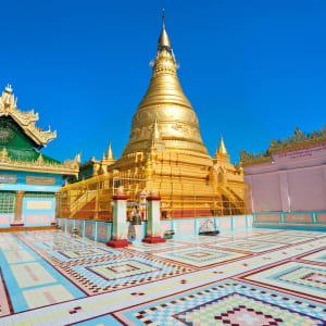 Myanmar - Land der Tempel und Pagoden ab Mandalay: Mandalay Sagaing Hill Golden Pagoda