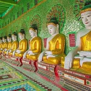Mythes et légendes du Myanmar de Yangon: Mandalay Sagaing Hill Golden Pagoda
