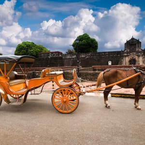 Stadtrundfahrt Manila, inkl. Mittagessen: Manila Horse Drawn Carriage parking in front of Fort Santiago
