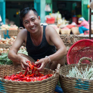 Streifzug durch Bangkoks Umgebung: Market scene in Bangkok