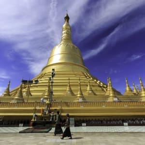 Fascination du sud du Myanmar de Yangon: Mawlamyine Kyaikthanlan Pagoda