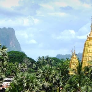 Fascination du sud du Myanmar de Yangon: Mawlamyine: Kyaikthanlan Pagoda