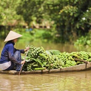 Vietnam für Geniesser ab Hanoi: Mekong Delta: Banana transport