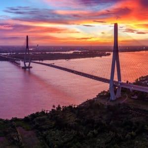 Faszinierendes Mekong Delta - ab/bis Saigon: Mekong Delta Can Tho Bridge