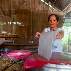 Faszinierendes Mekong Delta - ab/bis Saigon: Mekong Delta food making