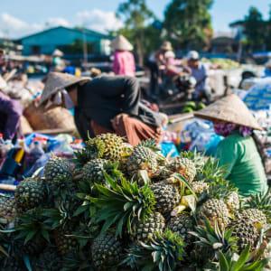 Mekong Delta Fluss-Kreuzfahrten mit «Mekong Eyes» ab Saigon: Mekong Delta Phong Dien Floating Market