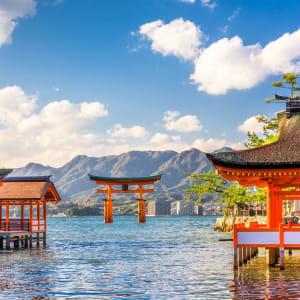 Le Japon sur de nouveaux chemins avec prolongation de Osaka: Miyajima Shrine