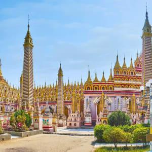 La fascination du Myanmar – un pays en mutation de Yangon: Monywa hanboddhay Pagoda