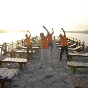 Mekong Delta Fluss-Kreuzfahrten mit «Mekong Eyes» ab Saigon: Morning TaiChi