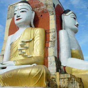 Fascination du sud du Myanmar de Yangon: Myanmar Bago Kyaikpun Pagoda