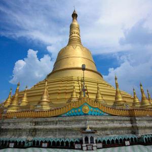 Der magische goldene Felsen ab Yangon: Myanmar Bago Shwemawdaw Paya pagoda
