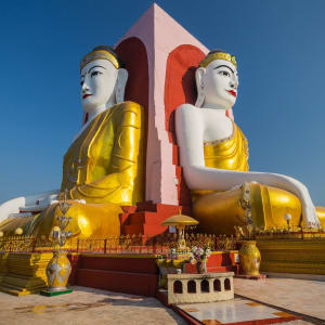 Der magische goldene Felsen ab Yangon: Myanmar Bago The Kyeik Pun Pagoda