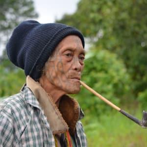 Excursion dans les montagnes de Chin de Bagan: Myanmar Chin State People