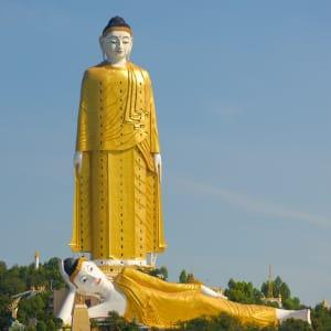 La fascination du Myanmar – un pays en mutation de Yangon: Myanmar Monywa Buddha