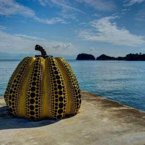 Les hauts lieux du Japon avec prolongation de Tokyo: Naoshima Island Art Piece Museum Japan Yellow Pumpkin