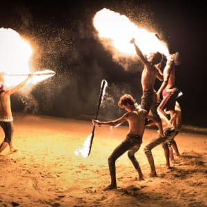 Seavana Beach Resort in Ko Mak: Fire Show