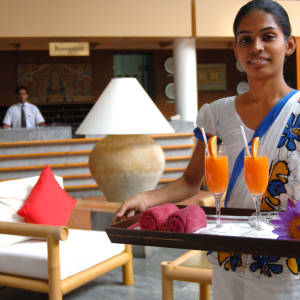 Lanka Princess in Beruwela: Guest Welcome