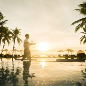 Intercontinental Hua Hin Resort: sunset pool view
