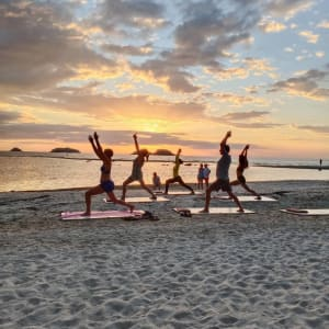 Centara Koh Chang Tropicana in Ko Chang: Yoga at sunset