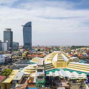 Les hauts lieux du Cambodge de Siem Reap: Phnom Penh City Center with Central Market