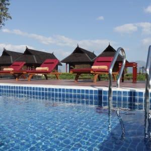 Pristine Lotus Resort in Inle Lake: Floating Duplex Pool