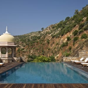 Samode Palace in Jaipur: Infinity pool