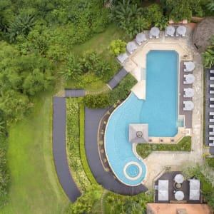 Anantara Golden Triangle Elephant Camp & Resort in Goldenes Dreieck: Infinity Pool Aerial View
