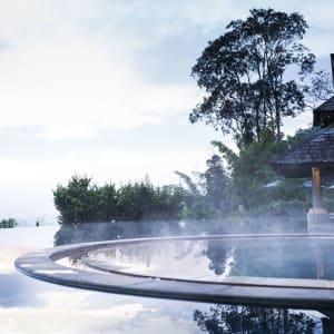 Anantara Golden Triangle Elephant Camp & Resort à Triangle d'Or: Jacuzzi Steam Dawn