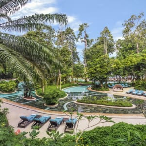 The Andaman in Langkawi: Landscaped swimming pool with sun beds