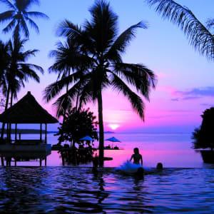 The Oberoi Beach Resort, Lombok: Lombok Oberoi Sunset with kids