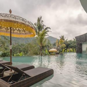Wapa di Ume Sidemen à Ouest de Bali: Pool at bottom level
