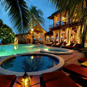 Zazen Boutique Resort & Spa in Ko Samui: Pool at night