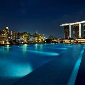 The Fullerton Bay à Singapour: Pool by night