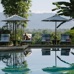 Anantara Golden Triangle Elephant Camp & Resort à Triangle d'Or: Pool Lounge