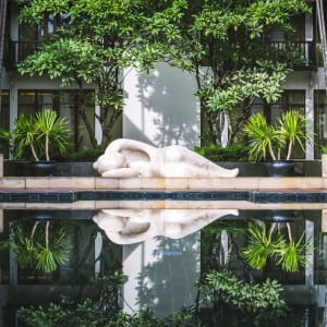 Anantara Angkor Resort in Siem Reap: Pool Reflections